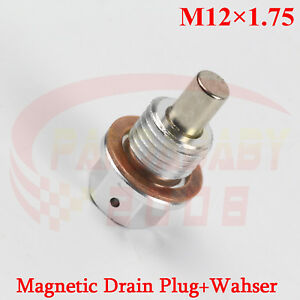 JDM M12X1.75 ENGINE MAGNETIC OIL PAN DRAIN PLUG BOLT SCREW CRUSH M12 WASHER SL