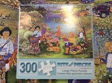 300 Piece Bits And Pieces Puzzle Barbecue At The Lake Complete