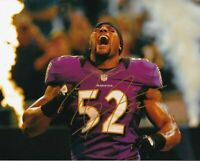 Ray Lewis Autographed Signed 8x10 Photo ( HOF Ravens ) REPRINT