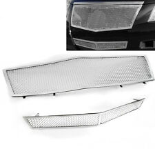 CADILLAC 2008-13 CTS FRONT TOP UPPER+LOWER BUMPER MESH GRILLE GRILL INSERT COMBO