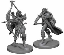 WZK72598 Wizkids Pathfinder Deep Cuts Unpainted Miniatures: Elf Male Fighter