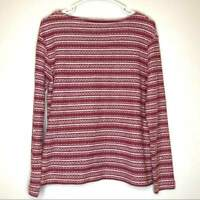 J Jill sweaters, embroidered sweater, red, size SP