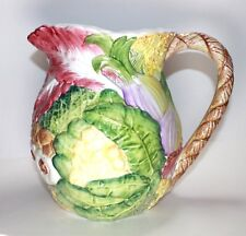 INTRADA Italian Ceramic LARGE Pitcher Jug Handmade in Italy  9 inch. Tall
