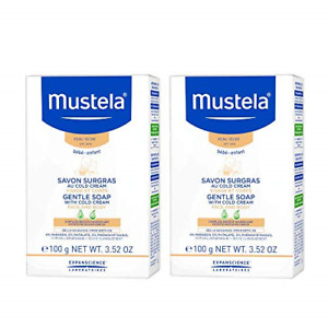 Mustela Gentle Soap, Baby Bar Soap with Cold Cream, Ceramides and Natural for 2