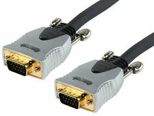 NEW 10M OXYGEN FREE COPPER VGA MONITOR CONNECT CABLE, GOLD PLATED PLUGS/CONTACTS