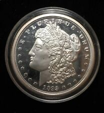 1893-CC Silver plated Tribute to Morgan Dollar