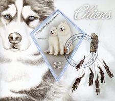 Madagascar 2015 CTO SLED SLEDGE Dogs-Samoyède Chien 1 V S/S Canes timbres