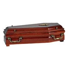 BEAUTIFUL WOOD CASKET CREMATION ASHES ADULT URN&INFANT CASKET,ADULT FUNERAL URN