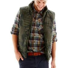 NWT i Jeans by Buffalo Men's Camo Puffer Vest w/ Hood Green Camouflage  MSRP $90