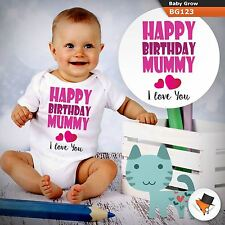 HAPPY BIRTHDAY MUMMY MUM MOTHER BABYGROW BABY GROW  ALL SIZES Unisex 1