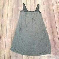 Max And Cleo Womens Gray Black Pleated Sleeveless A Line Dress Size Small