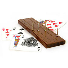 WOODEN CRIBBAGE CRIB BOARD AND PLAYING CARDS CARD SET PEGS FAMILY GAME CLASSIC
