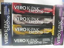 6 Joico K Pak CHROME Demi Permanent Hair Color A3 EBONY ASH BROWN (GY)