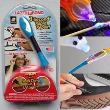 Lazer Bond 3 Second Fix -UV Light Repair Tool Liquid Weld As Seen on TV-Foam Bag