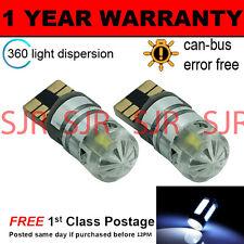 2x W5w T10 501 Canbus Error Free Blanco Led Cree sidelight bombillas Brillante sl103005