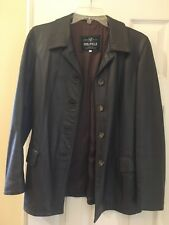 Vera Pelle Leather Jacket Women Chocolate Brown 42 M/L