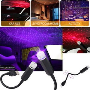 USB LED Car Interior Roof Atmosphere Star Night Light Lamp Projector Light Decor