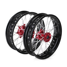 Supermoto Complete Wheel Rims 17*3.5 4.25 For Honda CR125 250R CRF250 450R 02-13