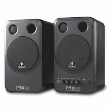 PAIR (2) Behringer MS16 Powered Studio / Home Desktop Monitor Amplified Speakers