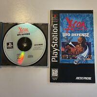 X-Com UFO Defense PS1 Playstation manual & Registration No Case tested Long Box