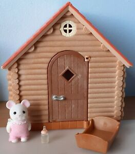 Sylvanian Families Wendy House and White Mouse Baby 5069