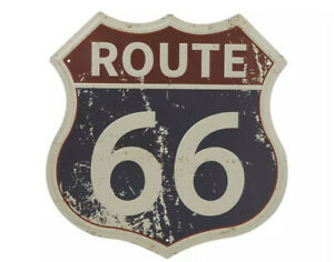 """New 12"""" x 11.5"""" Rustic Classic Route 66 Interstate Sign Beveled Tin Metal Sign"""