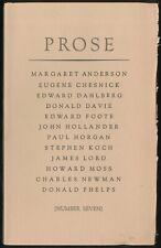 Edward DAHLBERG, Charles Newman / Prose Seven 7 1973