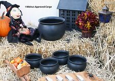 CRATE & BARREL CAULDRON SERVING BOWL SET -NWT- WHAT A BEWITCHING COMBINATION!
