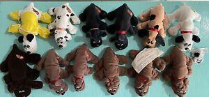 Pound Puppies Newborns Lot Set of 12 Vintage 1980s Toys Tonka Stuffed Puppy Dog