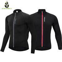 Thermal Fleece Cycling Jersey MTB Mountain Bike Jackets Windproof Sports Tops