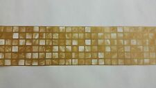 AS Creation Yellow Gold Mosaic Tile Kitchen/Bathroom Border Wallpaper (8264-11)