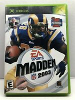 Madden NFL 2003 (Microsoft Xbox, 2002) Complete w/ Manual - Tested Working