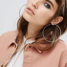Sterling Silver Hoop Earrings Large Hooped Sleeper60mm 6cm Ladies Pop