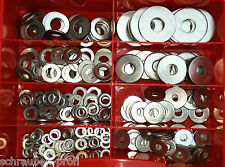 Sortimentkasten 270 Teile Scheiben-Sortiment DIN 125 / DIN 9021 Edelstahl A2