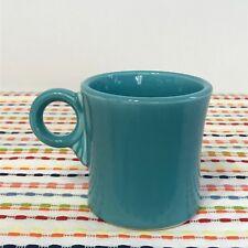 Vintage Fiestaware Turquoise Mug Fiesta Blue Ring Handle Tom and Jerry