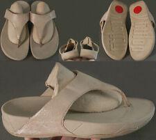 FitFlop Lulu Shimmer Sandals 505-137 Women's Size US 10 UK 8 EUR 42 Nude