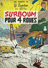 RARE MAURICE TILLIEUX + GIL JOURDAN + DESSIN ORIGINAL GOS : SURBOUM POUR 4 ROUES