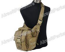 Tactical Outdoor Military Molle 1000D Utility Shoulder Sling Backpack Bag Tan