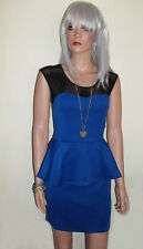 Ladies Summer Dress in Royal Blue with Black Net Top, Sleeveless Sizes 8 - 14