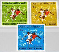 MAURITANIA MAURETANIEN 1973 470-72 C136-38 Soccer World Cup 1974 Munich Fußball