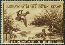 US 1942 #RW9 $1 Baldplate Duck / Hunting Stamp Thin AVG
