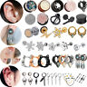 Steel Flesh Tunnel Expander Ear Plug Double Flared Surgical Steel Stretcher Plug