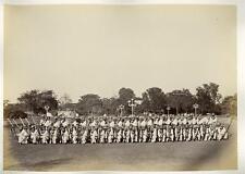 India - Blue jackets HMS Serapis Prince Wales tour Calcutta Westfield & Co 1875.
