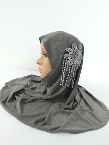 Mütze Fertig Kopftuch Hijab Turban Scarves Shawl Muslim Head Wrap Instant Bone