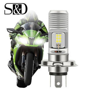 1Pc H4 9003 HB2 12SMD LED Bulb Hi/Lo Beam White Motorcycle Headlight High Power