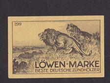 Ancienne étiquette allumettes Allemagne BN47511 Lion