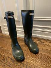 HUNTER Women's Tall Green Rain Boots Size US  7 Insulated