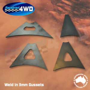 Laser Cut Weld In 3mm Thick 100mm  Length Gusset Style 2