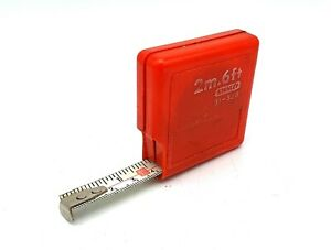 Vintage plastic Stanley tape measure - working - lovely collectible piece