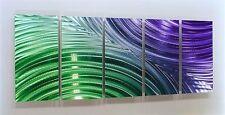 Huge Purple/Green/Silver Metal Wall Art Sculpture, Modern Painting by Jon Allen